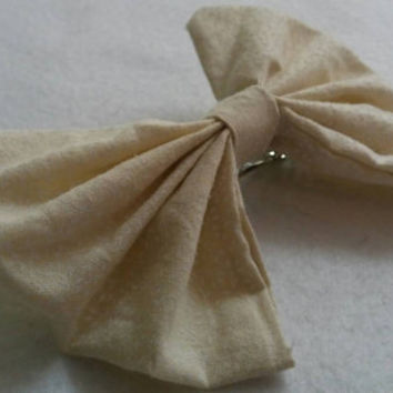 Off- White Subtle printed hair bow, adult, teen and children