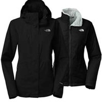 Gliks - The North Face Mossbud Swirl Triclimate Jacket for Women in Black