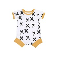 born Baby Boy Clothes Short Sleeve Romper Jumpsuit Outfits Clothing