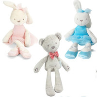 42cm 7Style Baby Toys Rabbit Sleeping Comfort Doll Plush Toys Millie Boris Smooth Obedient Rabbit Sleep Calm Doll Birthday Gifts