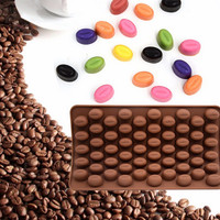 Chocolate Bean Molds 55 Mini Coffee Beans Silicone Cake Molds [11499268367]