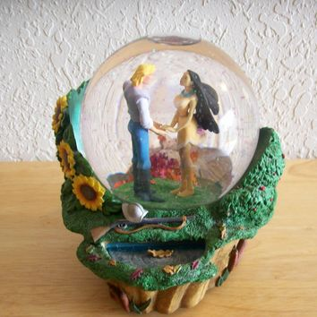 Disney Pocahontas Musical Animated Snow globe