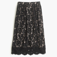J.Crew Womens Contrast Floral Lace Skirt