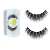 1 Pair 100% Real Mink Natural Thick False Fake Eyelashes Eye Lashes Makeup Extension Beauty Tools