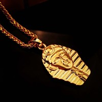 Shiny Jewelry Gift Stylish New Arrival Chain Double Sided Hip-hop Club Necklace [6542729923]