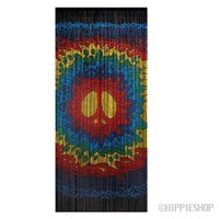 Psychedelic Peace Bamboo Door Beads on Sale for $39.99 at HippieShop.com