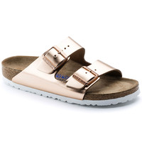 Arizona Natural Leather Soft Footbed Metallic Copper | BIRKENSTOCK