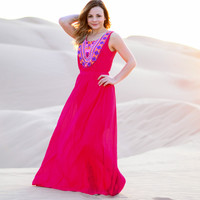 THE FUTURE IS BRIGHT MAXI DRESS IN PINK