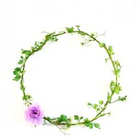 Vine and Lilac Rose Flower Crown