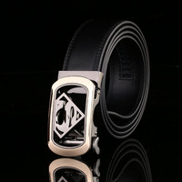 Men Genuine Leather Strap With Automatic Buckle Cow Skin Belt
