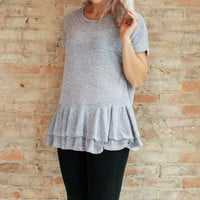 Chelsea Knit Ruffle Tunic Top