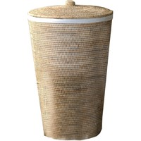 BASKET WB Laundry Hamper Basket Malacca with Lid 15 X 25 inch - Rattan