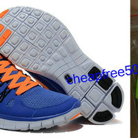 Womens Nike Free 5.0 Blue Orange Shoes [Nike Free 5.0 1665] - $49.99 : Nike Free 5.0 Shop | Nike Free 5.0 For Sale | Nike Free 5.0 Womens