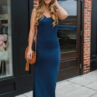 At Long Last Maxi Dress - Navy