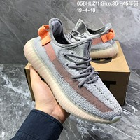 DCCK2 A1268 Adidas 2019 Yeezy Boost 350 V2 Knit Sports Running Shoes Gray