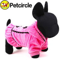 2017 Graceful Pet Dog Clothes Winter Size Xxs-l Small And Large Dog Clothing Plushdog Coats For Chihuahu