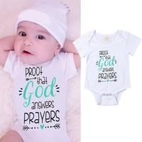 USA Stock Infant Newborn Baby Boy Girl Romper Clothes Outfit Bodysuit Playsuit