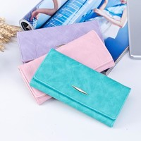 Maison Fabre Wallet Female Solid Hasp Coin Purse Female long 2018 new Korean version of the PU large-capacity wallet Mar19
