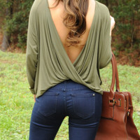 Twisted Love Top: Green