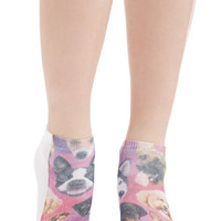 Quirky Cosmic Cuddle Socks in Dogs by ModCloth
