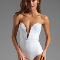 BEACH RIOT // STONE_COLD_FOX Gally Cook One Piece in White from REVOLVEclothing.com