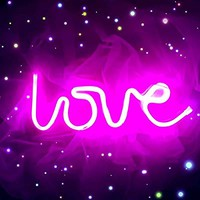"""Dorm Decor Neon Love Light 13.70"""" Large LED Love Art Decorative Marquee Sign - Wall Decor / Table Decor for Wedding party Kids Room Living Room House Bar Pub Hotel Beach Recreational (purple pink)"""