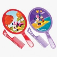 """DISNEY MICKEY AND MINNIE MOUSE HAND MIRROR AND COMB SET ASSORTED DESIGNS AND COLORS SENT AT RANDOM SIZE 6"""""""