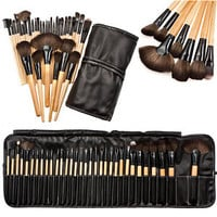 32pcs Professional Soft Cosmetic Eyebrow EyeShadow Makeup Brush Pouch Bag Case
