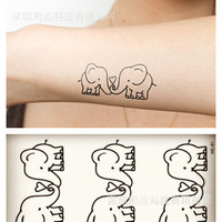 Fashion Body Art Stickers Removable Waterproof Temporary Tattoo = 4446344004
