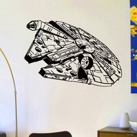 Wall Decals Vinyl Sticker Decal Star Wars Millennium Falcon Wall Decor Home Interior Design Art Mural Boys Room Kids Bedroom Dorm Z762
