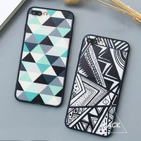 Fashion Geometry Triangle Case For iphone 7 Case For iphone7 PLus 6 6S Plus 5 5S Back Cover Abstract Graffiti Phone Cases Capa -0315