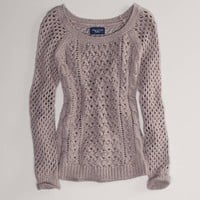 AE Open Stitch Cable Sweater | American Eagle Outfitters