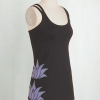 Mid-length Sleeveless At a Moment's Lotus Athletic Top by ModCloth
