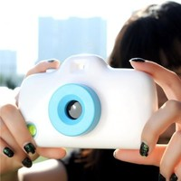 Convertible Filters Camera Phone Case For iPhone 5/5S (Blue)