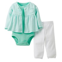 Carter's Striped Cardigan Set - Baby, Size: