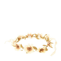 Gold Floral Head Crown