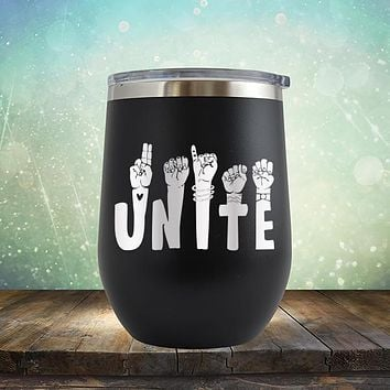 Unite American Sign Language - Stemless Wine Cup