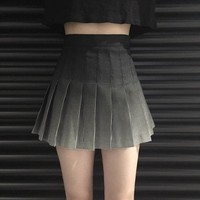 Women's Skirts Ladies Punk Kawaii Ulzzang Retro Pleated Skirt Graduated Printed Plaid College High Waist Skirt Female Kawaii