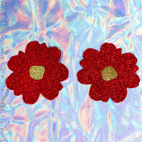 Red Glitter Wildflower Pastease® Pasties