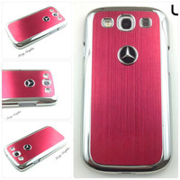 Mercedes Samsung Galaxy S3 Case Mercedes Benz Sport Car Premium Hard Cover for S3 / i9300 - Red