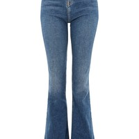 MOTO Mid Blue Flared Jamie Jeans - Jamie Jeans - Clothing