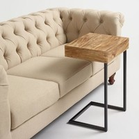 Wood Alec Laptop Table with Shelf
