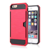 DEFENDER CARD HOLDER IPHONE CASE RED