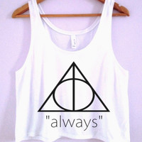 "Deathly Hallows ""Always"" Crop-Top"