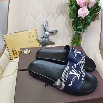 LV Couple printed slippers