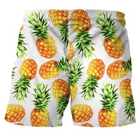 Mens Casual Pineapple Printed  Beach Work Casual Men Short Trouser Shorts outdoor Pants A30