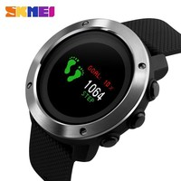 New Men's Smart Watches SKMEI Brand Top OLED Display Digital Watch Outdoor Compass Pedometer