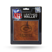 Green Bay Packers Leather Embossed Billfold