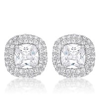 Burke Cushion Halo Statement Stud Earrings