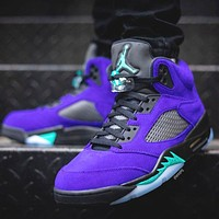 Nike Air Jordan 5 Retro Alternate Grape Basketball Shoes Sneakers